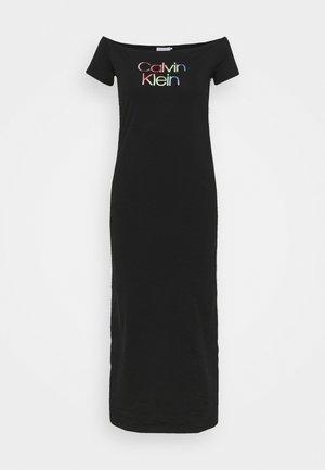 BARDOT PIPING DRESS - Maxi dress - black