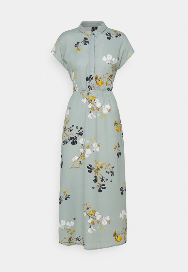 VMHALLIE LONG TIE DRESS - Blusenkleid - green milieu