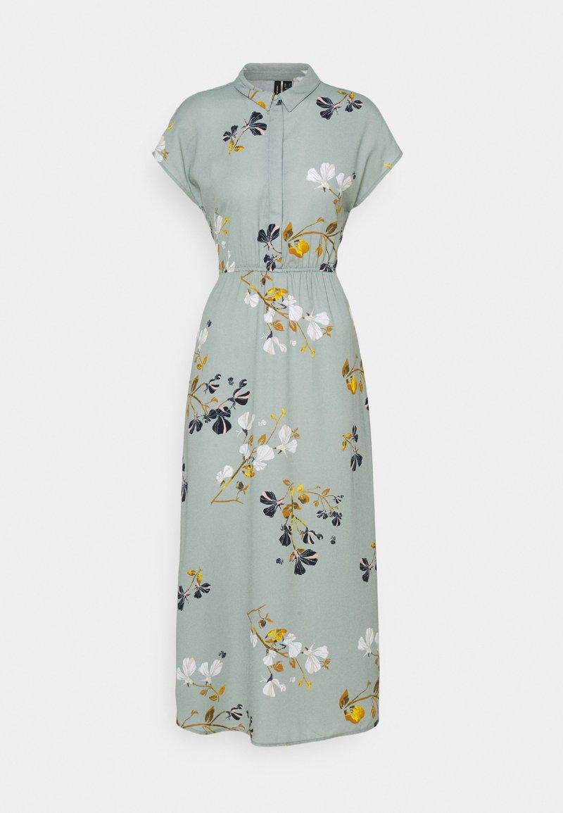 Vero Moda - VMHALLIE LONG TIE DRESS - Skjortekjole - green milieu