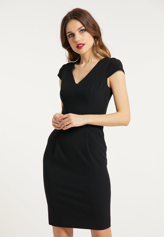 Pouzdrové šaty - schwarz