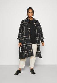 Vero Moda Curve - VMCHRISSIE LONG SHIRT - Summer jacket - dark grey melange - 1