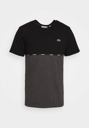 Print T-shirt - black/pitch chine