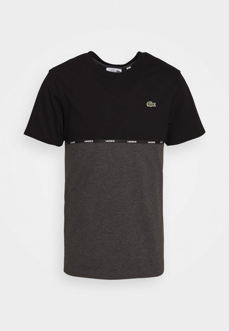 Lacoste Sport - T-shirt imprimé - black/pitch chine