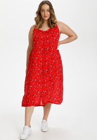 Kaffe Curve - Day dress - red flower print - 1