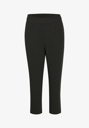 Trousers - black pinstripe