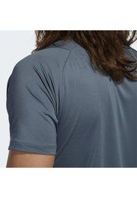 adidas Performance - FREELIFT 3-STRIPES T-SHIRT - Camiseta estampada - green - 5