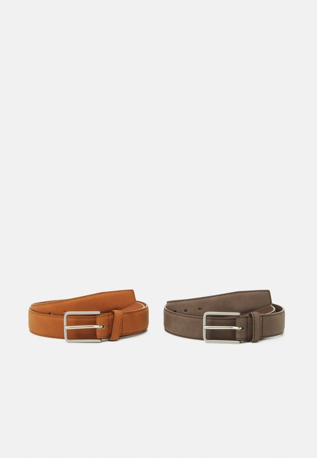 2 PACK UNISEX - Belt - brown/cognac