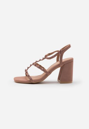 STAFFY - High heeled sandals - oatmeal