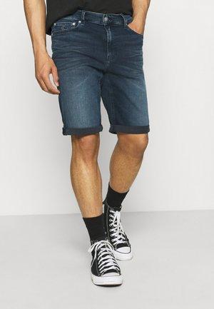 SLIM - Denim shorts - denim dark