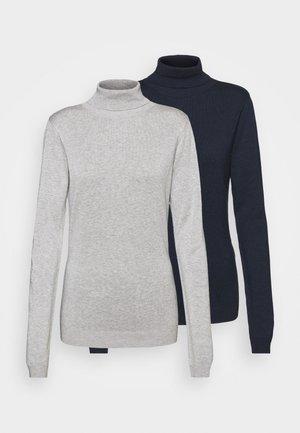 2 PACK - Svetrík - dark blue/mottled grey