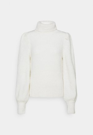 HAIRY TURTLENECK - Trui - off white