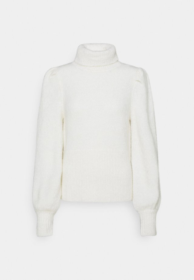 HAIRY TURTLENECK - Jumper - off white