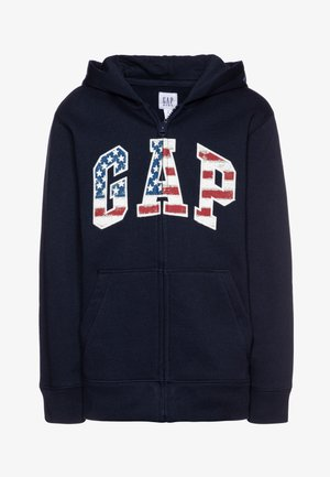 BOY NEW AMERICANA LOGO HOOD - Mikina na zip - blue galaxy