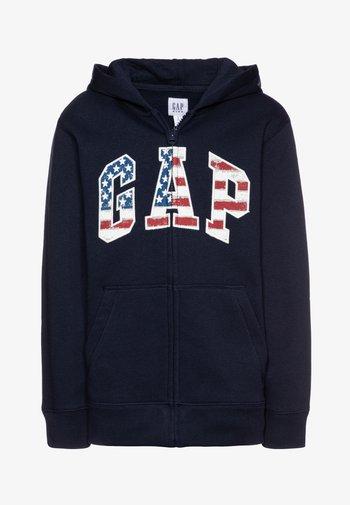 BOY NEW AMERICANA LOGO HOOD - Zip-up sweatshirt - blue galaxy