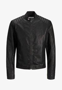 Jack & Jones - Leather jacket - black - 4