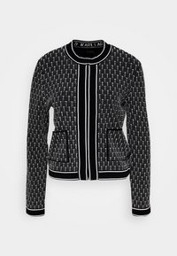 KARL LAGERFELD - TEXTURED CARDIGAN - Cardigan - black/white - 4