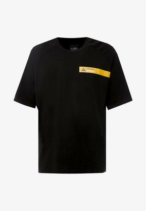 BOX TEE - Print T-shirt - black/yellow