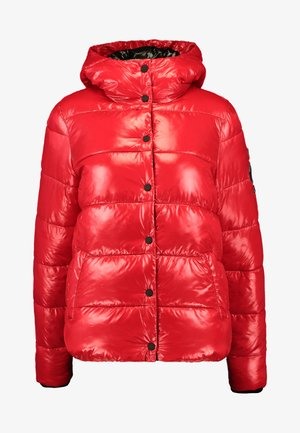 HIGH SHINE TOYA PUFFER - Zimní bunda - red