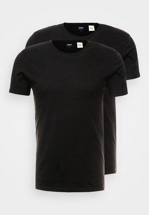 SLIM CREWNECK 2 PACK - Basic T-shirt - black