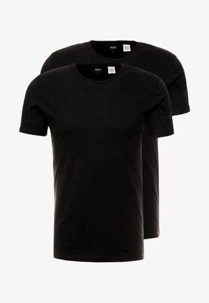 SLIM CREWNECK 2 PACK - T-paita - black