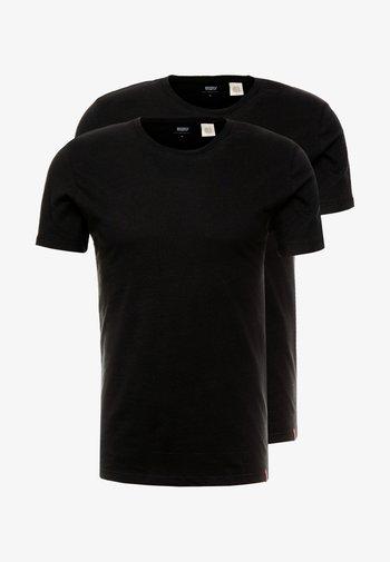 SLIM CREWNECK 2 PACK - T-shirt - bas - black