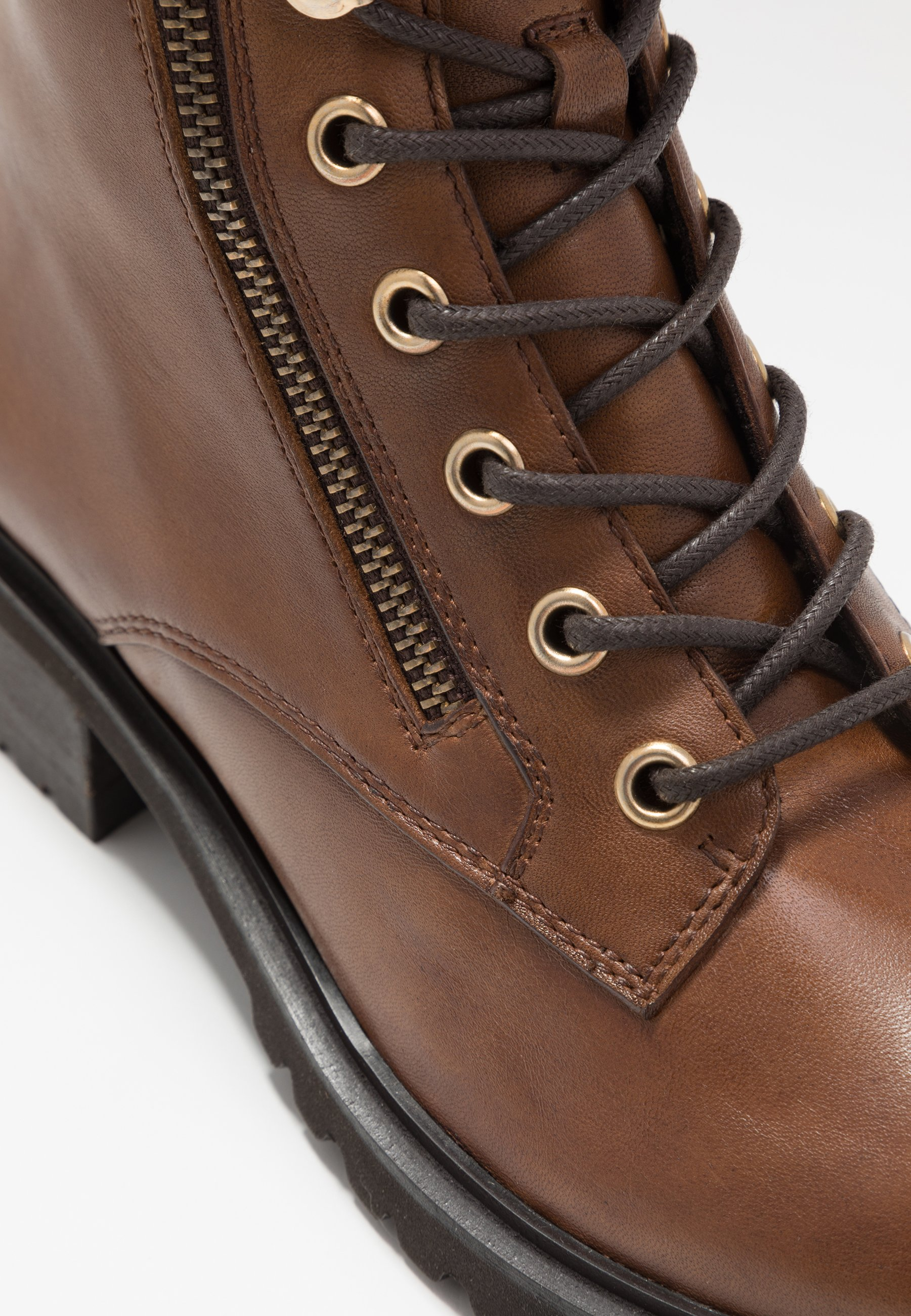 2013 Cheapest Steven New York ULOF - Lace-up ankle boots - cognac | women's shoes 2020 n5iq9