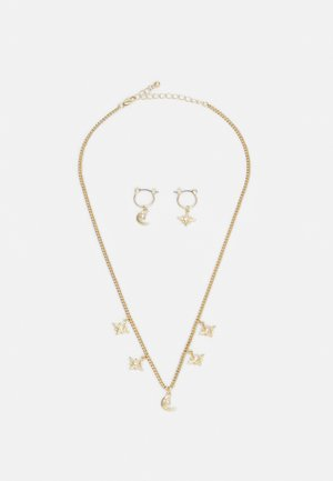 PCLADY EARRINGS NECKLACE SET - Earrings - gold-coloured/clear