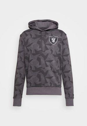 NFL OAKLAND RAIDERSGEOMETRIC CAMO HOODY - Bluza rozpinana - dark grey