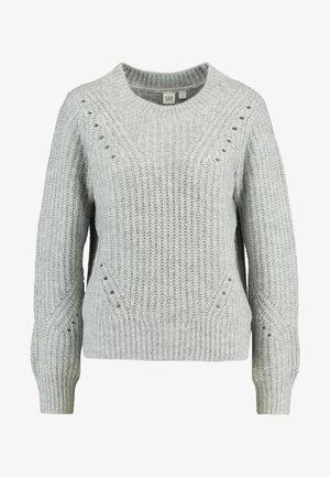 BRUSHED CREW - Strikkegenser - light grey