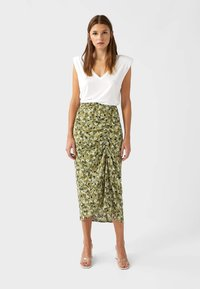 Stradivarius - Pencil skirt - light green - 1