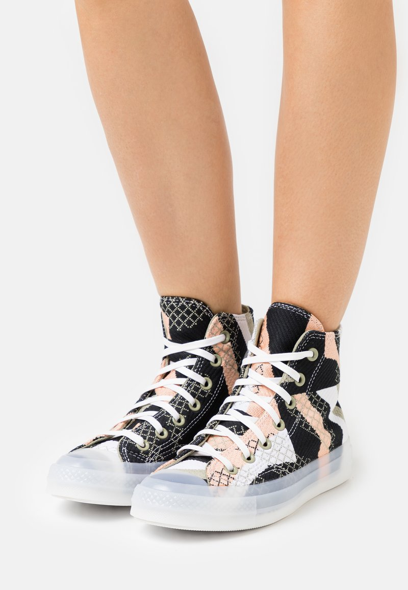 Converse - CHUCK 70 PRINT - High-top trainers - cantaloupe/black/white