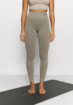 SEAMLESS HIGH WAIST  - Tights - vetiver