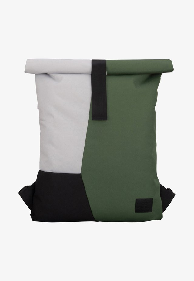 ROLL TOP OSKAR - Rucksack - green/grey