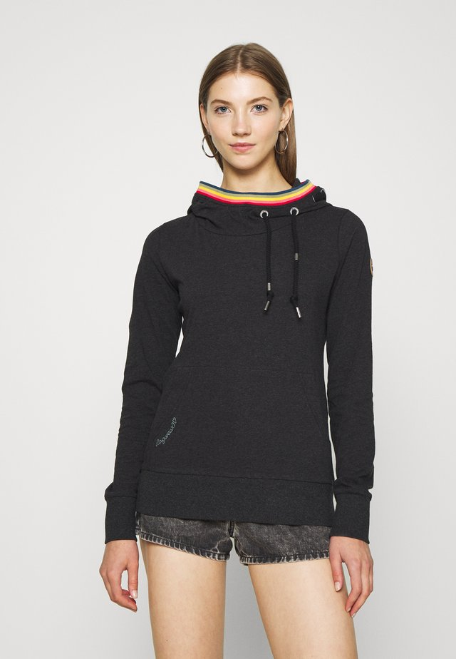 ERMELL - Sweat à capuche - black