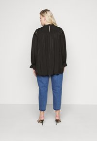 Glamorous Curve - BROIDERY TRIM BLOUSE WITH LONG SLEEVES AND HIGH-NECK  - Blouse - black - 2