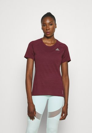 ADI RUNNER SUPERNOVA AEROREADY - T-shirts med print - victory crimson