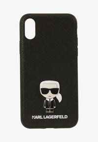 KARL LAGERFELD - IKONIK PIN XS - Phone case - black - 1