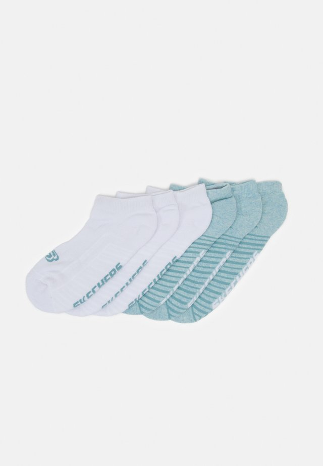 BASIC CUSHIONED SNEAKER 6 PACK - Trainer socks - pastel turquoise melange
