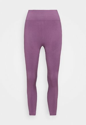 HIGH WAIST COMPRESSION SEAMLESS  - Leggings - purple