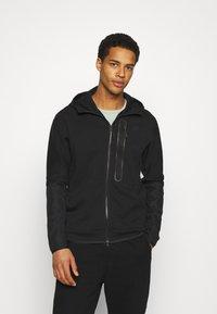 Nike Sportswear - HOODE MIX - Sudadera con cremallera - black - 0
