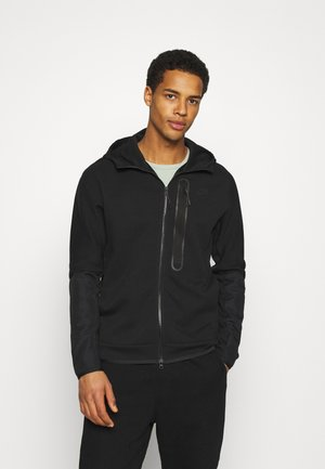 HOODE MIX - veste en sweat zippée - black