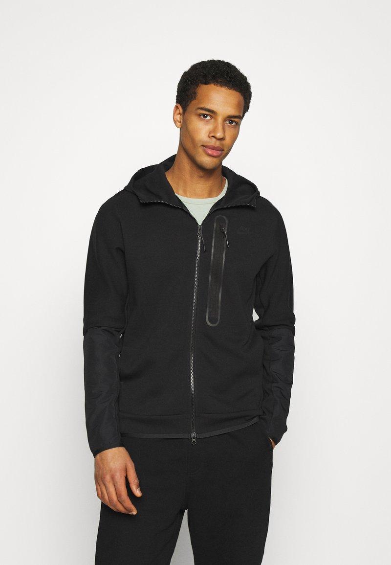 Nike Sportswear - HOODE MIX - Sudadera con cremallera - black