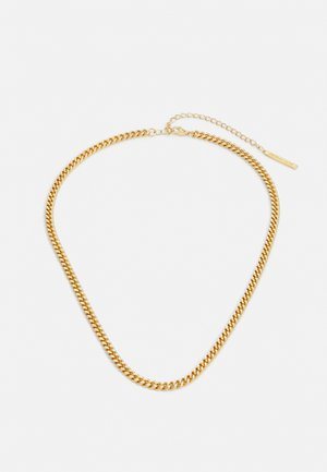 LUXE THICK CURB CHAIN - Halskæder - pale gold-coloured