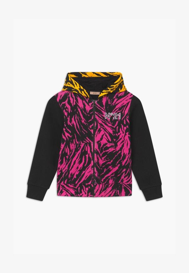 Zip-up hoodie - fuxia