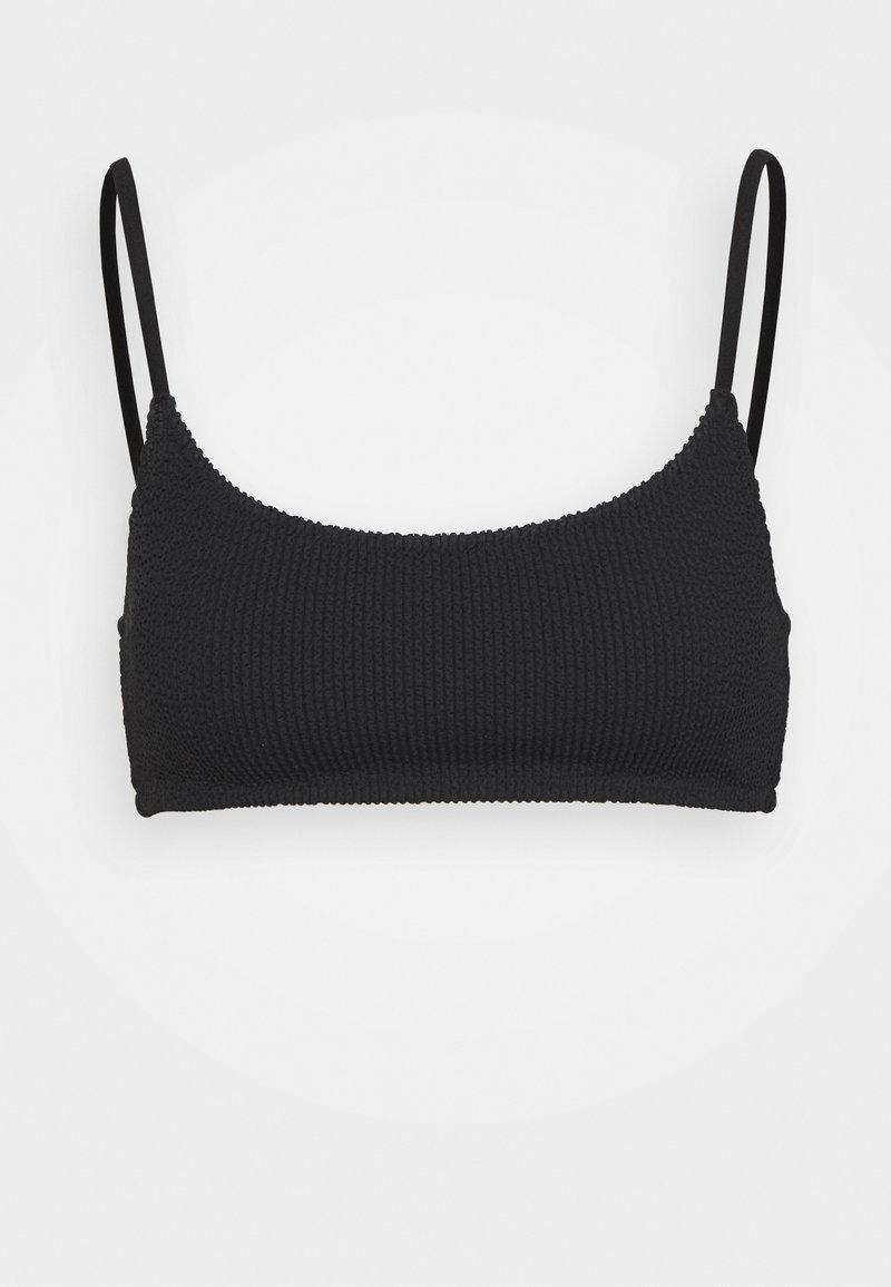 Weekday - SUNNY STRUCTURE SWIM - Bikini top - black