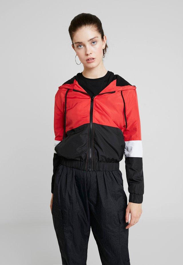 Lett jakke - white/red