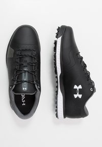 Under Armour - FADE RST 3 E - Golfové boty - black/white - 1