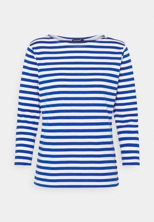 ILMA SHIRT - Maglietta a manica lunga - white/blue