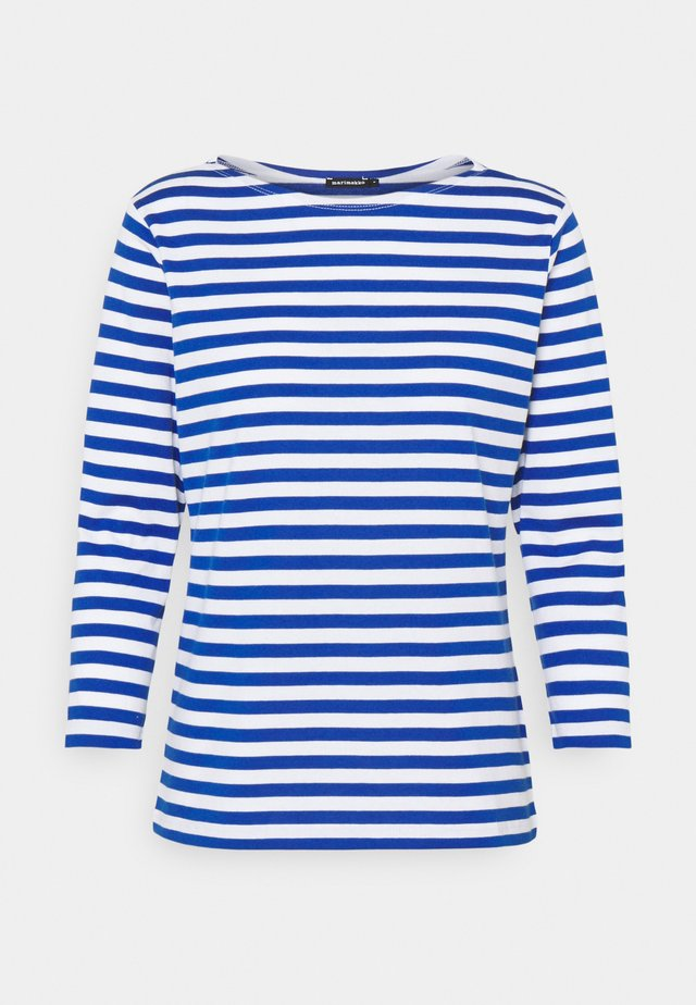ILMA SHIRT - Long sleeved top - white/blue