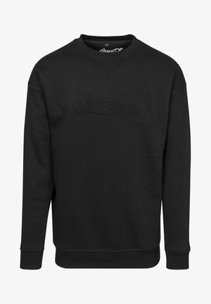COCA COLA EMBOSSED CREWNECK - Sweatshirt - black
